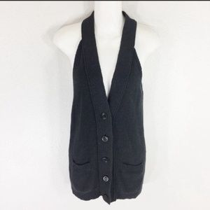 Vince solid charcoal gray knit sweater vest
